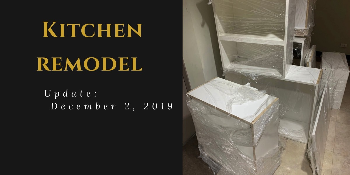 Kitchen Remodel Update (December 2, 2019)