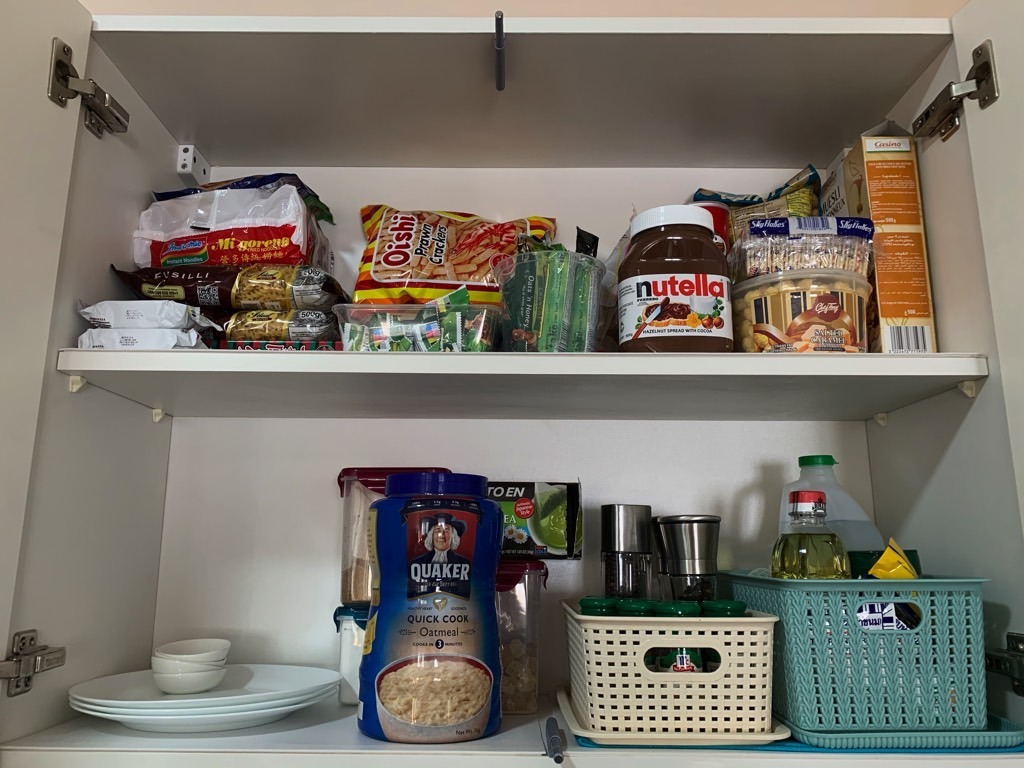 kitchen remodel stock food cabinet