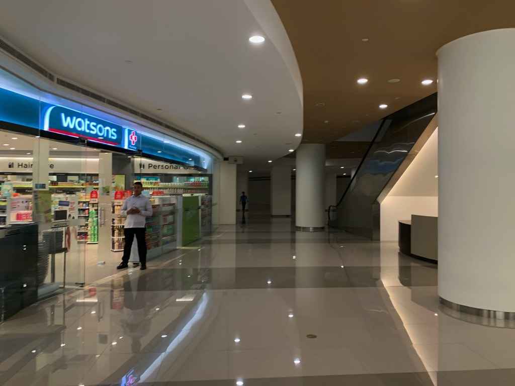 BGC new construction February 2020; inside the new mall