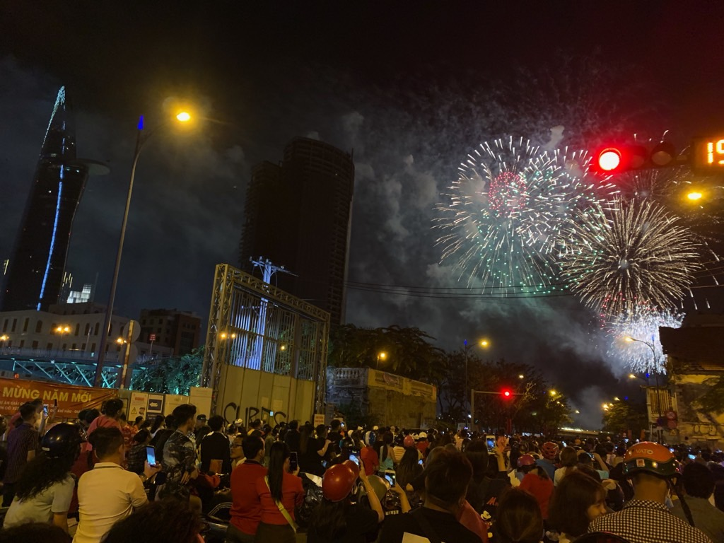 early FI destination Ho Chi Minh City New Year fireworks