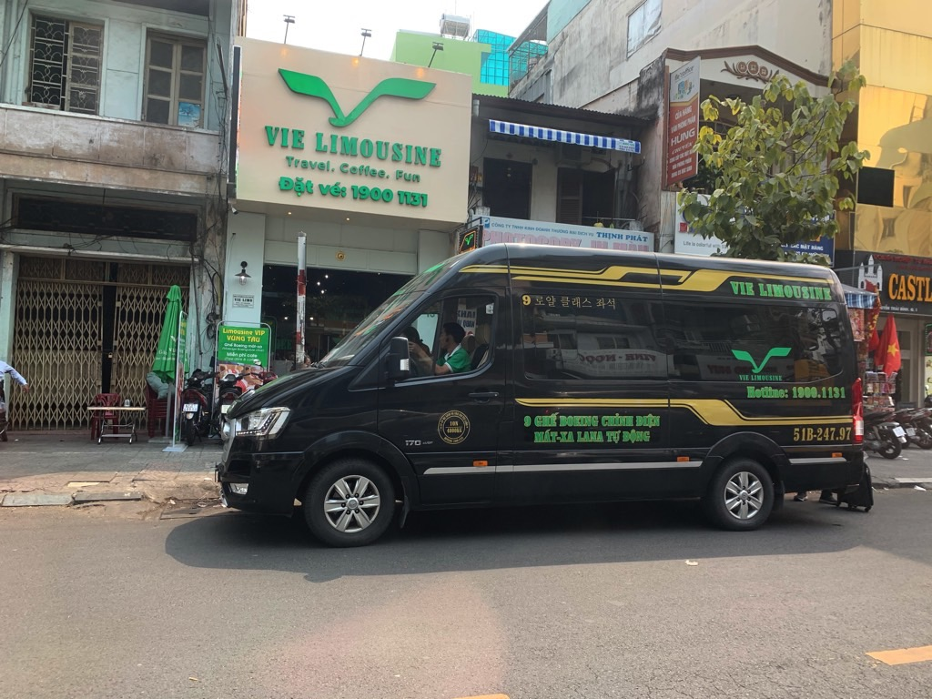 early FI destination Ho Chi Minh City; traveling in style limo to Vung Tau